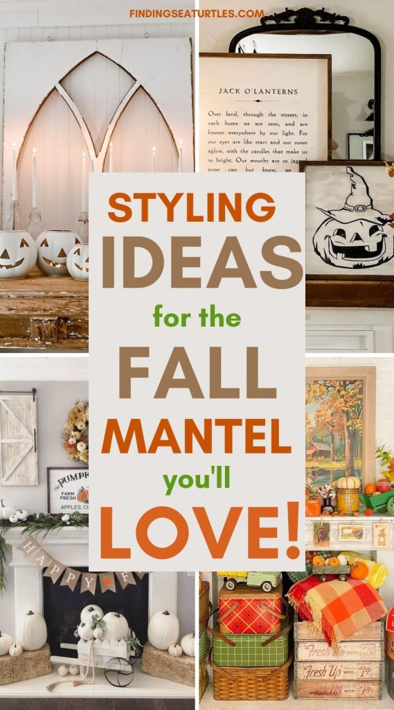 STYLING Ideas for the Fall Mantel you'll Love #Fall #FallMantel #FallDecor #HomeDecor #AutumnDecor