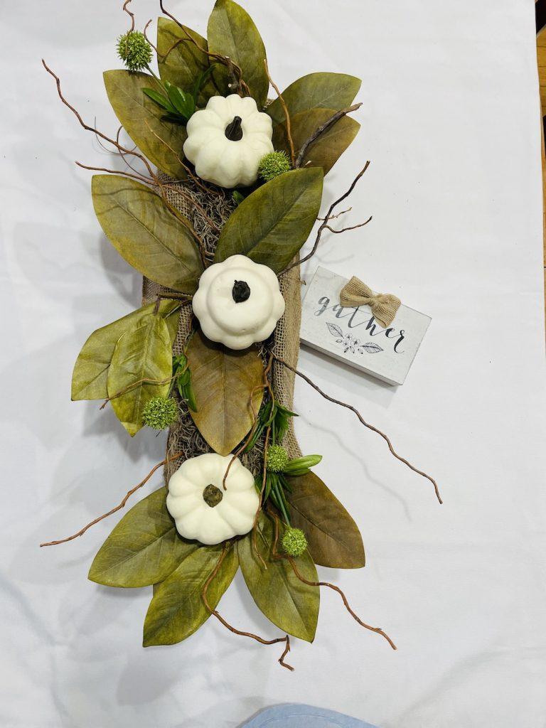 Trio White Pumpkins_1715 #DIY #Fall #FallCenterpiece #HomeDecor #TableStyling #Autumn