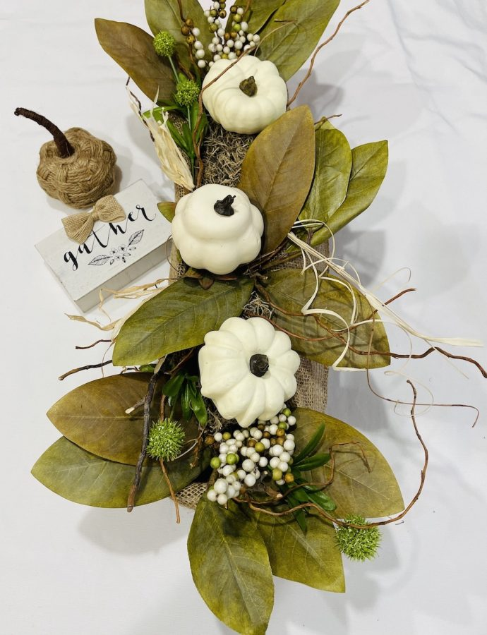 Neutral DIY Fall Centerpiece to Add Beauty to Your Table