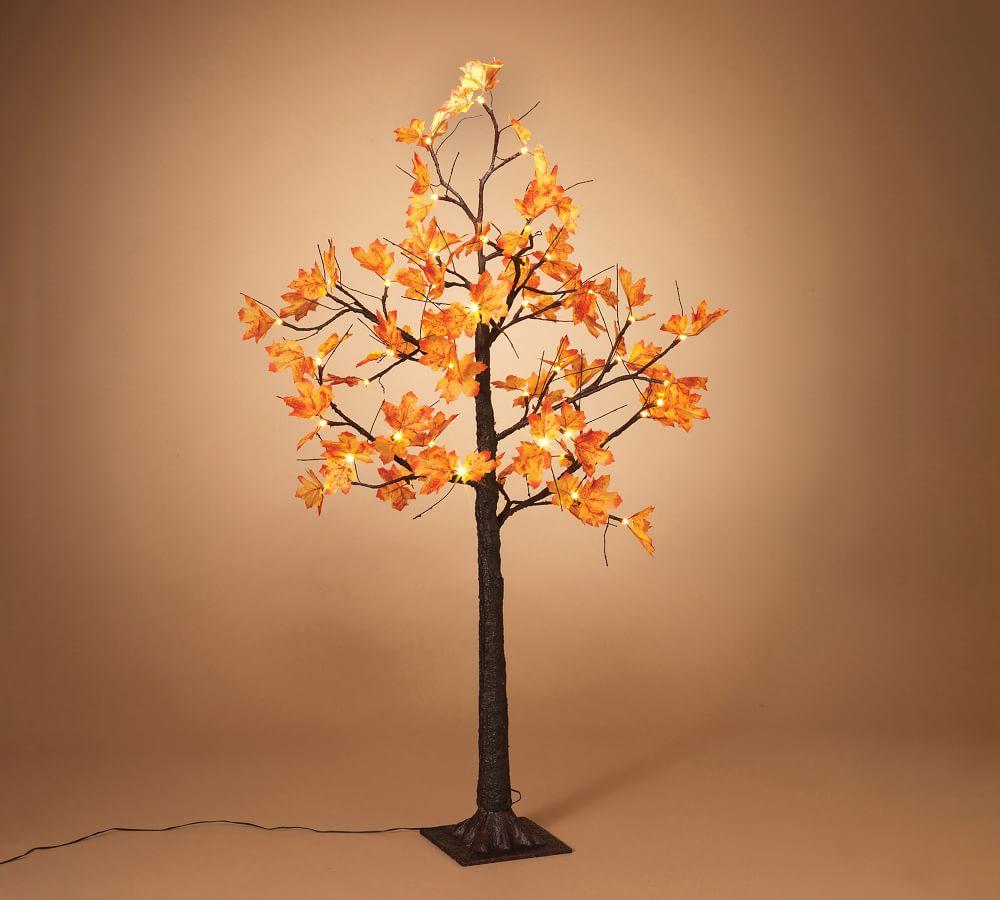 Electric Maple Leaf Tree #Fall #Porch #FallPorch #FallDecor #HomeDecor #AutumnDecor