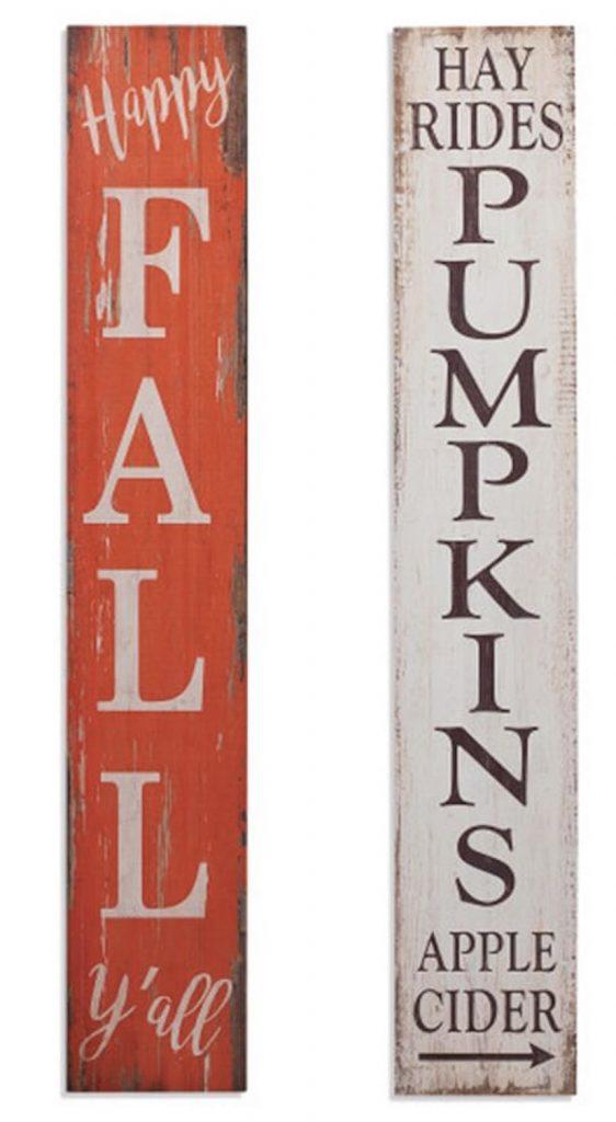 Harvest Wooden Porch Signs #Fall #Porch #FallPorch #FallDecor #HomeDecor #AutumnDecor