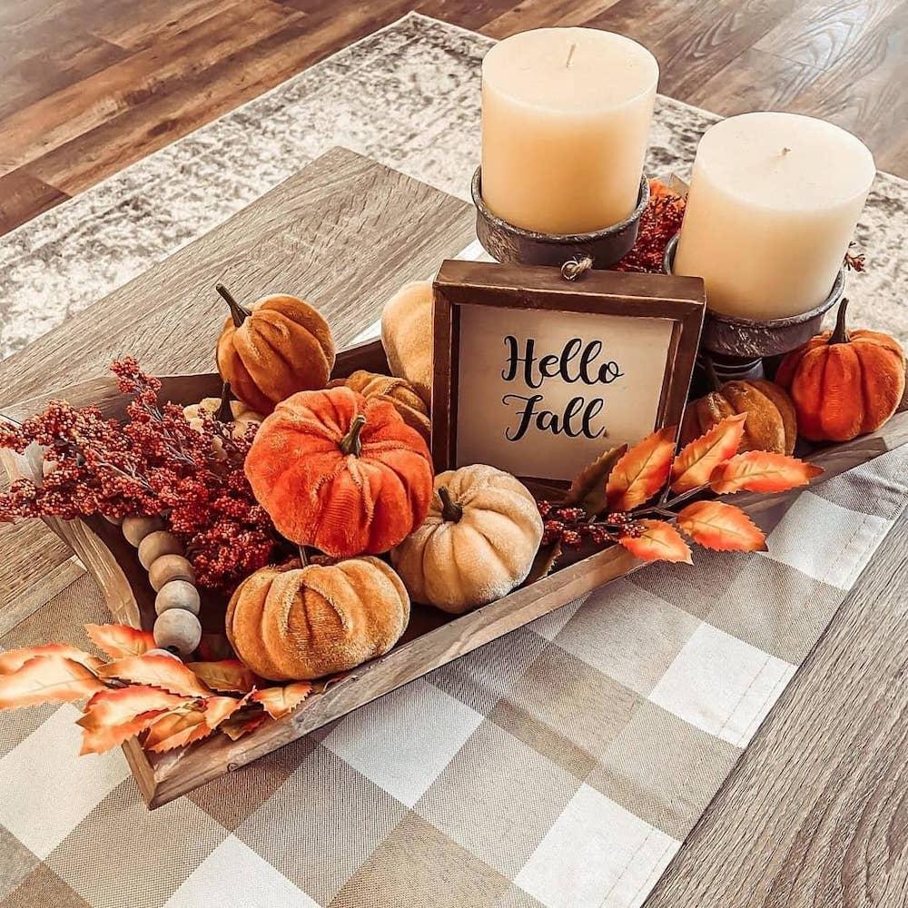 In 1 #Fall #FallCenterpiece #FallDecor #Autumn #FallTable #HomeDecor