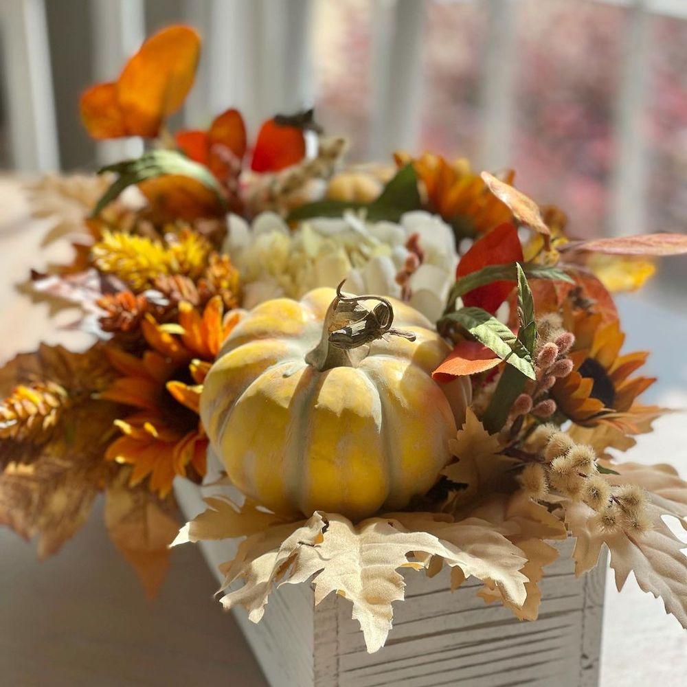 In 14 2 #Fall #FallCenterpiece #FallDecor #Autumn #FallTable #HomeDecor