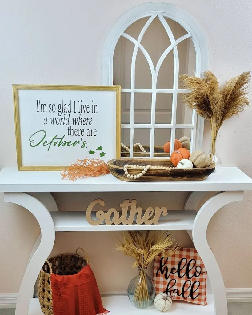 In 14 #Fall #HomeDecor #WoodenDoughBowls #DoughBowls #FallCenterpiece #AutumnDecor