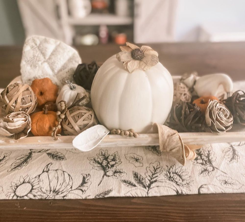 In 15 1 #Fall #HomeDecor #WoodenDoughBowls #DoughBowls #FallCenterpiece #AutumnDecor
