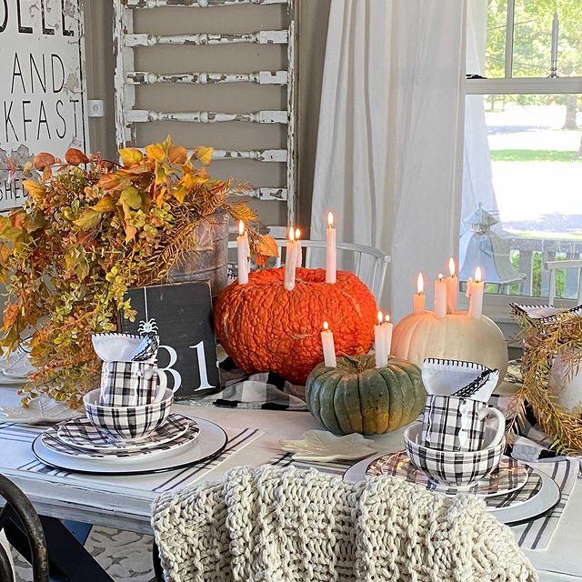 In 2 1 #Fall #Tablescapes #FallDecor #HomeDecor #AutumnDecor