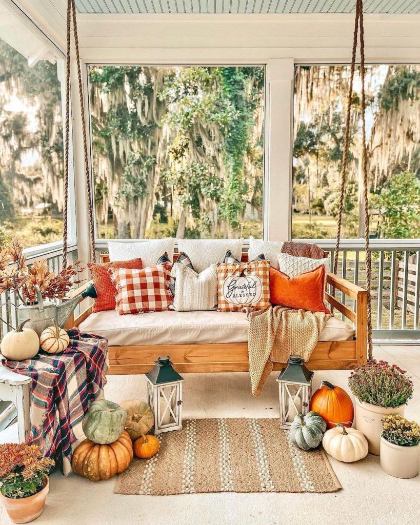 In 3 1 #Fall #Porch #FallPorch #FallDecor #HomeDecor #AutumnDecor