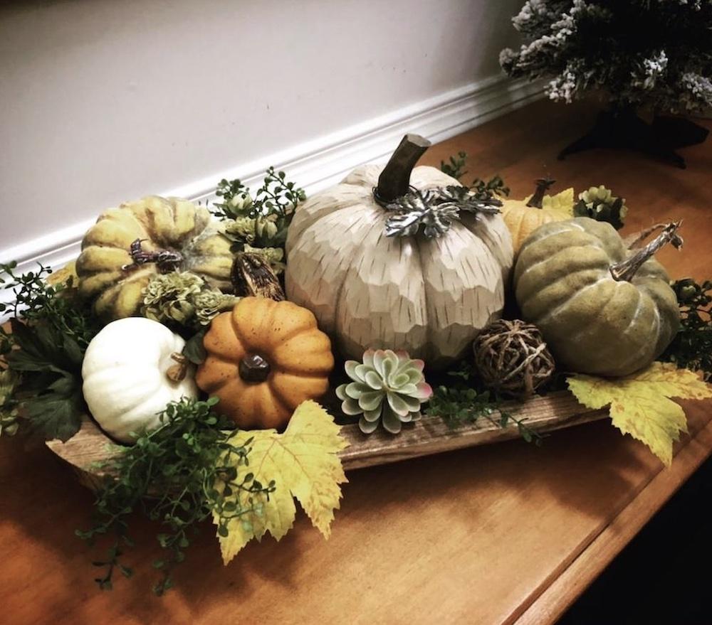In 3 2#Fall #HomeDecor #WoodenDoughBowls #DoughBowls #FallCenterpiece #AutumnDecor