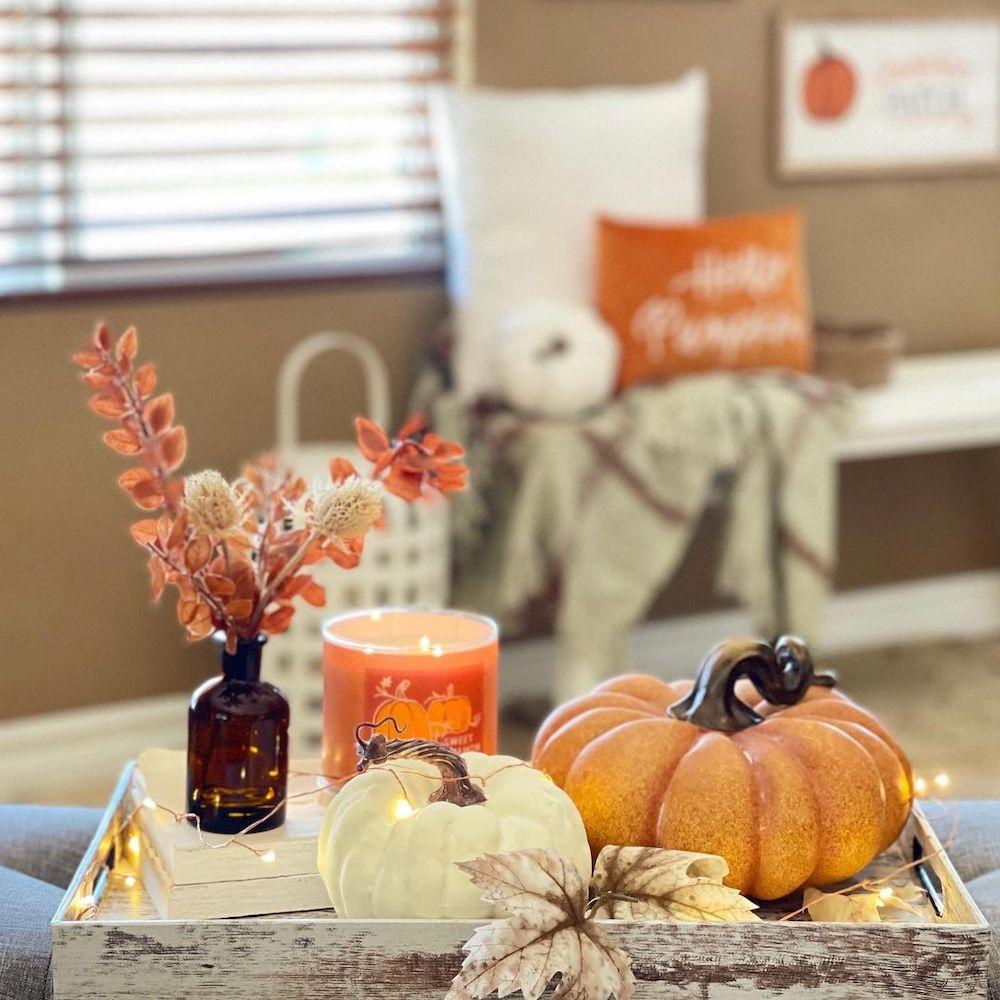 DIY fall centerpiece ideas In 7 #Fall #FallCenterpiece #FallDecor #Autumn #FallTable #HomeDecor