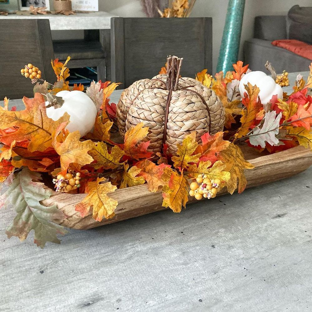 Wooden Dough Bowls to Style In 7 #Fall #HomeDecor #WoodenDoughBowls #DoughBowls #FallCenterpiece #AutumnDecor