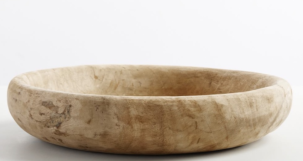 Nordic Wooden Bowl #Fall #HomeDecor #WoodenDoughBowls #DoughBowls #FallCenterpiece #AutumnDecor