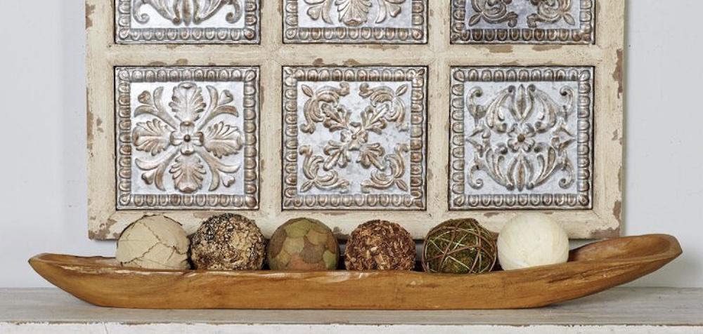 Teak Wood Ship Decorative Bowl #Fall #HomeDecor #WoodenDoughBowls #DoughBowls #FallCenterpiece #AutumnDecor