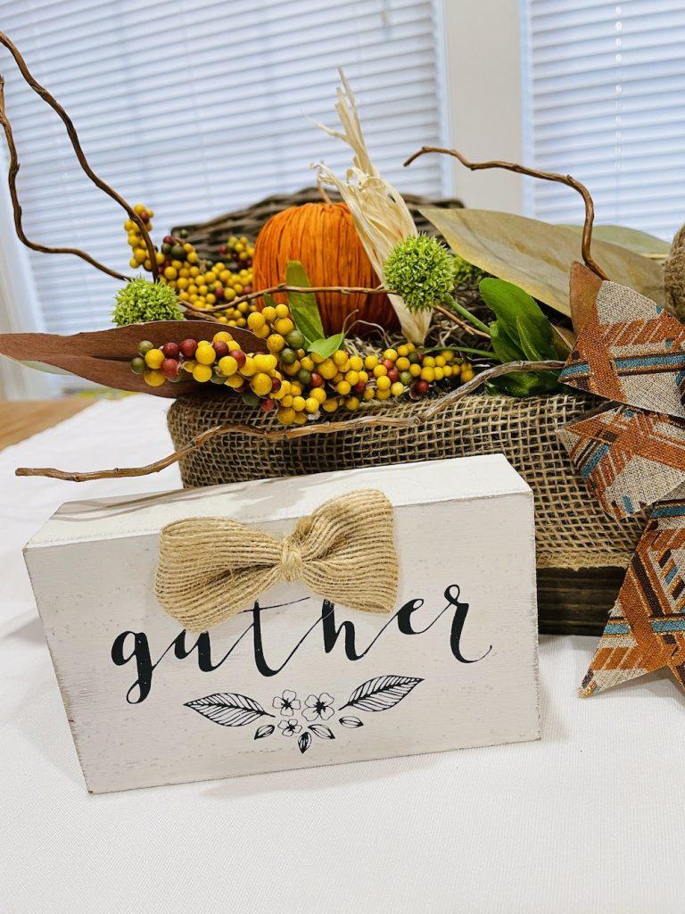 DIY Fall Centerpiece Trio of Orange Pumpkins Centerpiece_1721 #DIY #Fall #FallCenterpiece #HomeDecor #TableStyling #Autumn