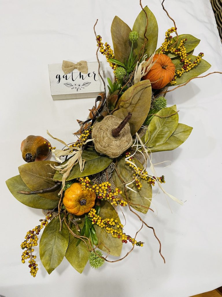 DIY Fall Centerpiece Trio of Orange Pumpkins_1723 #DIY #Fall #FallCenterpiece #HomeDecor #TableStyling #Autumn