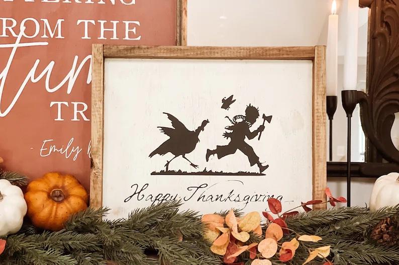 Vintage Happy Thanksgiving #Fall #Porch #FallPorch #FallDecor #HomeDecor #AutumnDecor