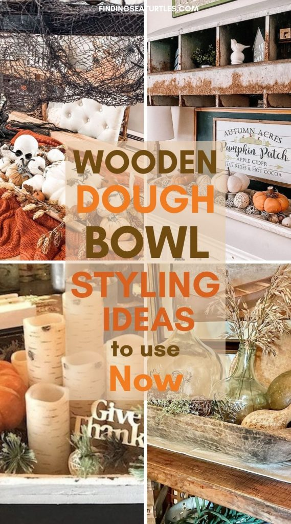 WOODEN Dough Bowl Styling Ideas to use Now #Fall #HomeDecor #WoodenDoughBowls #DoughBowls #FallCenterpiece #AutumnDecor