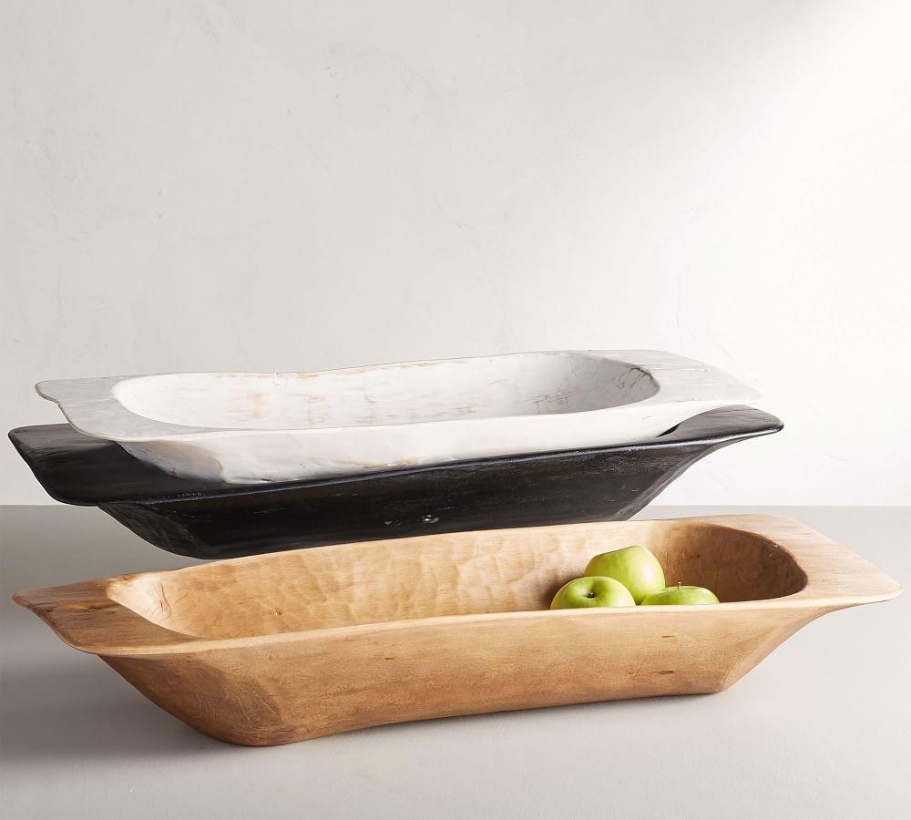 Wooden Dough Bowl Trays #Fall #HomeDecor #WoodenDoughBowls #DoughBowls #FallCenterpiece #AutumnDecor