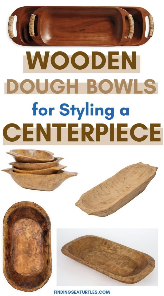 Wooden Dough Bowls for Styling a Centerpiece #Fall #HomeDecor #WoodenDoughBowls #DoughBowls #FallCenterpiece #AutumnDecor